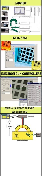 Surface Science Software for LEED, RHEED, SEM, SAM, Auger and Electron Gun Controller Software